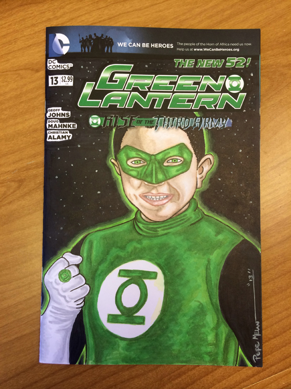 Green Lantern Kids Sketch Cover