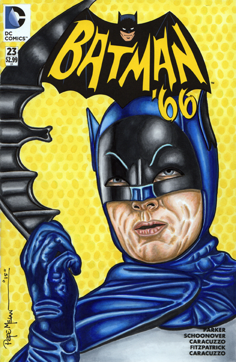 BATMAN 66 ADAM WEST SKETCH COVER01A