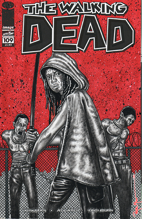 Walking Dead Sketch Cover Michonne01A