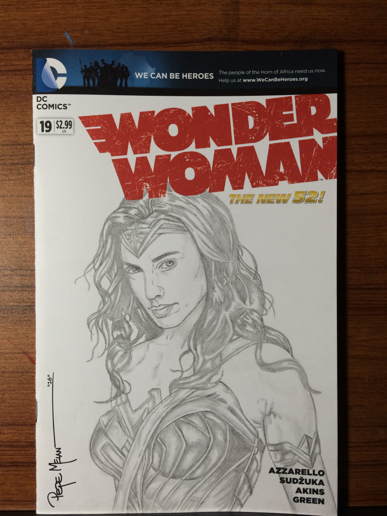 WONDER WOMAN PENCIL COVER